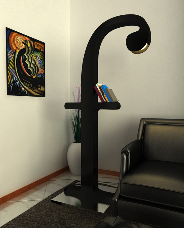 f Bodoni lamp by Claudio Scotto